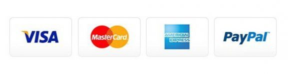 Visa, Mastercard and American Express Cards Accepted