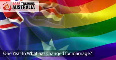 Cover image - One year in, what has changed for marriage equality? Rose Training Australia